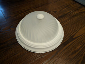 White dome ceiling light fixture