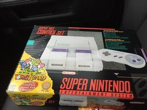Super Nintendo boxed CIB