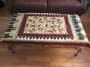 Handmade hand painted African table cloth