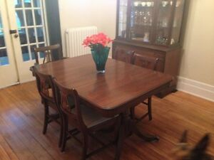 Walnut dining room set