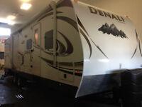 2012 Dutchmen Denali DEBH quad bunk double slides.