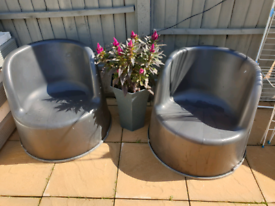 Resin garden chairs