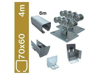 Bodenführung-Set  70x60mm  Laufwerk freitragend, für 4m Schiebetor Verzinkt