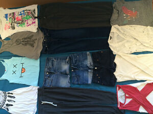Jeans and shorts, cool funky unique shirts