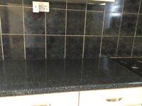 Kitchen cupboards worktops & Range Cooker