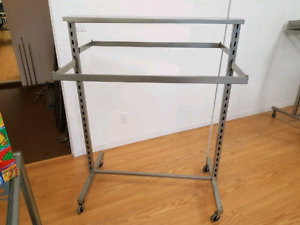 Clothing Rack 2 Sided Adjustable Hangbars Store Fixtures  EUC