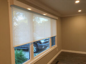 Remote controlled roller blinds/fabrics included! Strathcona County Edmonton Area image 5