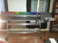 "54"" Roland Eco-Solvent Printer and Assorted Sign Supplies"