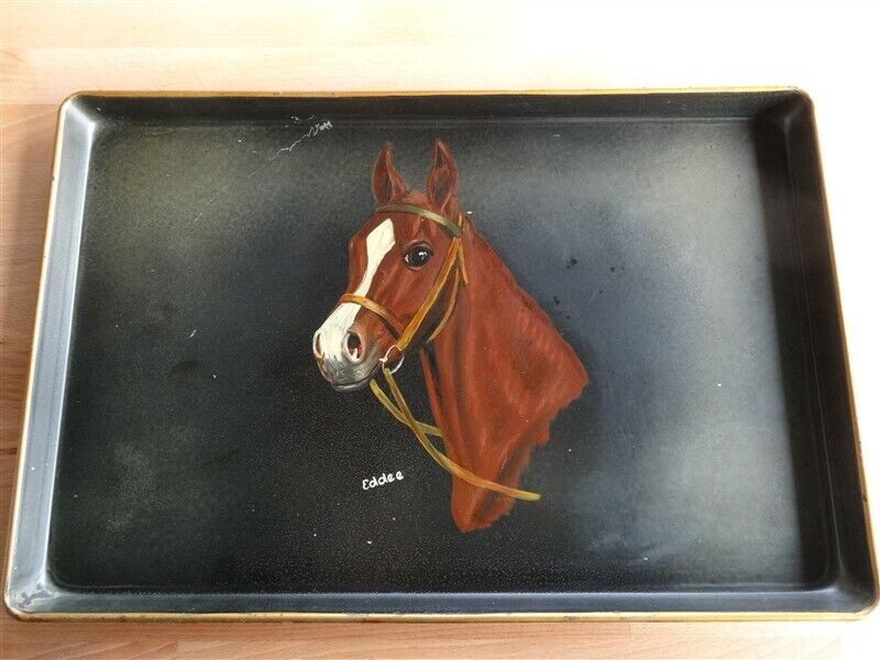 Hand Painted Tray With Horse * Meyer