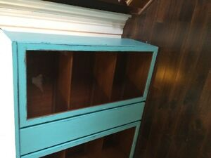 Display cupboard, painted a cool blue and distressed.... London Ontario image 6