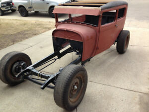 1929 Ford model a double z'd frame Lincoln v12 flathead