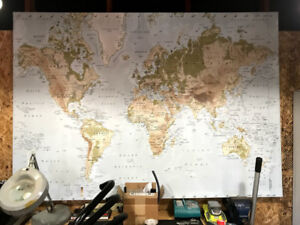 Ikea world map kijiji in toronto gta buy sell save with used ikea large world map picture atlas on canvas gumiabroncs Image collections