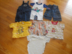 Vêtements d'été pour garçon : 12 mois