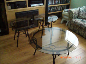 Glass  Tables x3