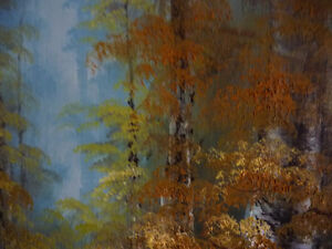 """Forest Sanctuary, Landscape by Paul Cho """"Woodland Stream"""" 1970's Stratford Kitchener Area image 8"""