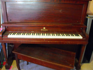 GOURLAY UPRIGHT GRAND PIANO - cheap