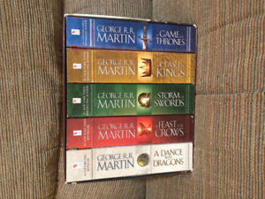 Complete book series of Games of thrones!