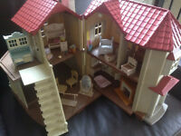 calico critters delux townhouse