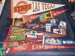 LOOKING FOR - Old FELT PENNANTS - arm or hat patches