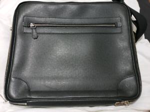 Taiga Leather Laptop Briefcase Louis Vuitton