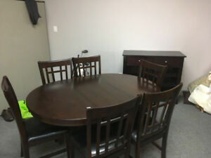Dining Set with Matching Piece Wine Rack with Drawers (Add $75)