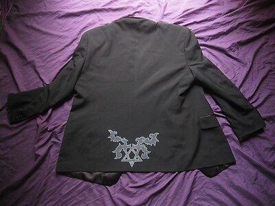 BAM MARGERA HEARTAGRAM JACKET L HIM ville valo shirt goth rock concert wear emo