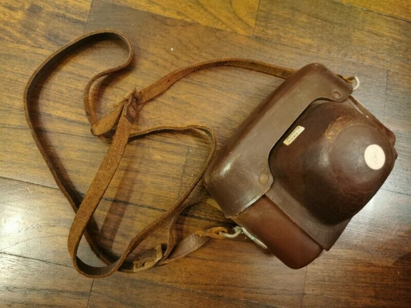 Vintage Camera Leather Cover Case A Brown