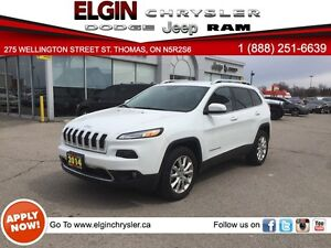 2014 Jeep Cherokee Limited***Nav, B-up Cam, Low Kms***