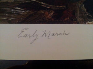 """Limited Edition """"Early March"""" by Tom Thomson Windsor Region Ontario image 3"""