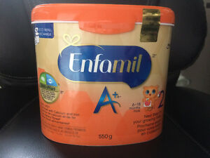 Enfamil A+ 2 sealed tub.
