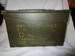 2 Vintage Military Ammunition Boxes Item #189 Oakville / Halton Region Toronto (GTA) image 2