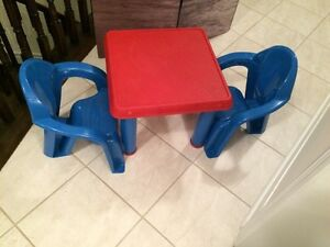 Childs chairs and table