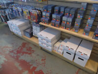 Comic Boxes, Hockey Card Boxes In Stock Cheapest In Edmonton