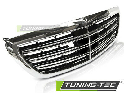 KÜHLERGRILL SPORTGRILL FÜR MERCEDES W222 13-18 AMG LOOK NIGHT VIEW CHROM