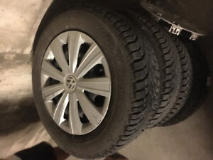 4 gislave -195/65/15 winter tires- Rim mounted