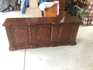 Gibbard hutch, curio, buffet, display cabinet, table,
