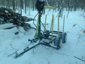 Remorque pour bois chargeuse vtt