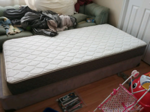 New Twin Mattress with Box Spring