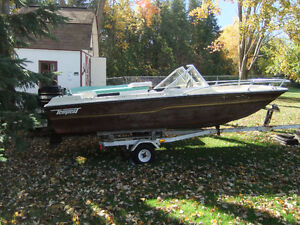 16 Foot Tempest Bowrider, Motor and trailer