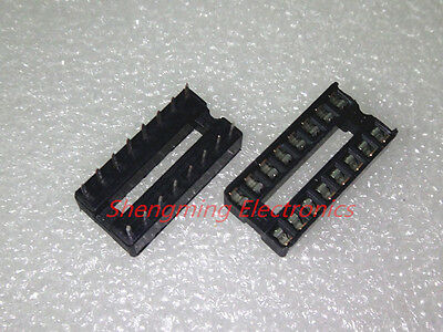 100pcs 16 Pin Dip16 Integrated Circuit Ic Sockets Adaptor Solder Type