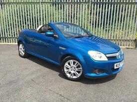 2007 57 Reg Vauxhall Tigra 1.4i 16v a/c Convertible + Blue + LEATHER +