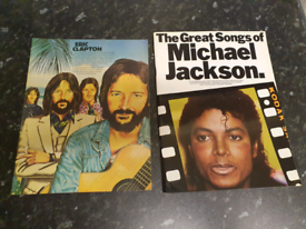 ERIC CLAPTON AND MICHAEL JACKSON SONG BOOKS. EX CONDITION