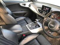 2011 11 reg Audi A7 3.0 TDI S Line Quattro Sportback + BLACK + BLACK LEATHER
