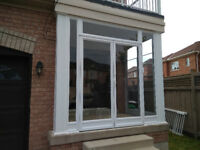 Front Porch Glass Enclosure Main entrance storm door Brampton