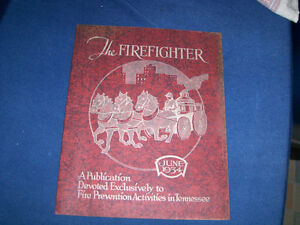 THE FIREFIGHTER-6/1934-TENNESSEE FIRE PREVENTION-VINTAGE!