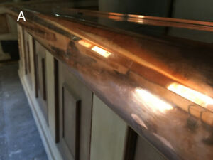 Copper plated bar counter