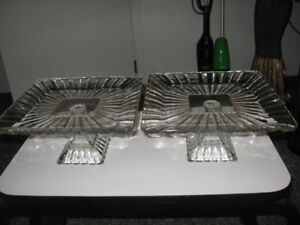 Crystal serving trays