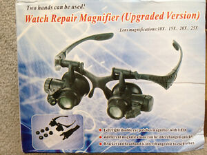 Watch-Jeweler Led Magnifier glasses