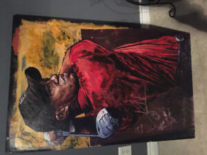 Steven Holland tiger woods paintings authentic