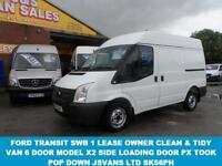 2012 12 FORD TRANSIT 260 SWB TRANSIT SWB 2012/12 REG RARE MODEL 100 BHP 6 DOOR +